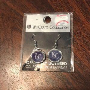 NWT KC Royals earrings